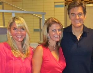 Me, my friend Sheryl (from my Toe-ron-toe post) and Mehmet Oz